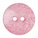 Knoop 15 mm rond glitter licht roze
