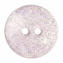 Knoop 13 mm rond glitter rose