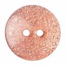 Knoop 18 mm rond glitter zalm