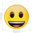 Applicatie Emoji lachend 65 mm