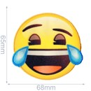 Applicatie Emoji lachen met tranen 65 mm