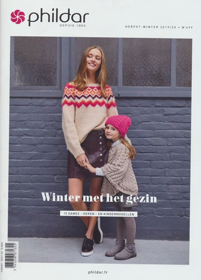 Phildar nr 699 herfst-winter 2019-2020 15 dames- heren en kindermodellen