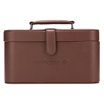 Namaste train case - handwerkkoffer bruin 30x16,5x15,5cm