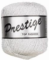 Lammy Yarns Prestige 005 wit met zilver (op=op)