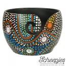 Kluwenhouder - yarn bowl Mango hout - Aboriginal