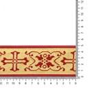 Band 50 mm sinterklaas - goud glitter met rood (1 meter)