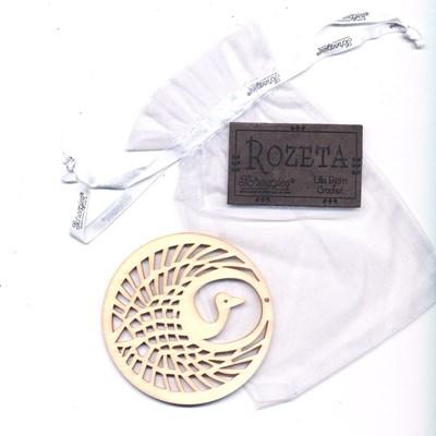 Call 2019 Scheepjes Rozeta label kraanvogel hout en leer op=op