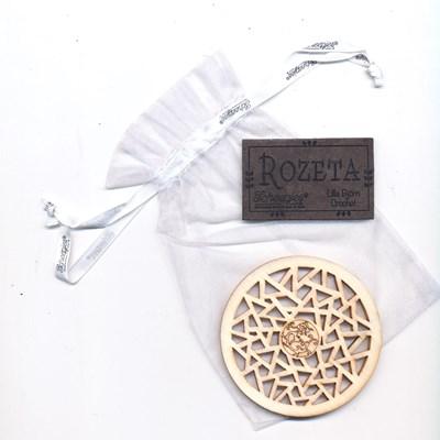 Call 2019 Scheepjes Rozeta label driehoekjes hout en leer op=op