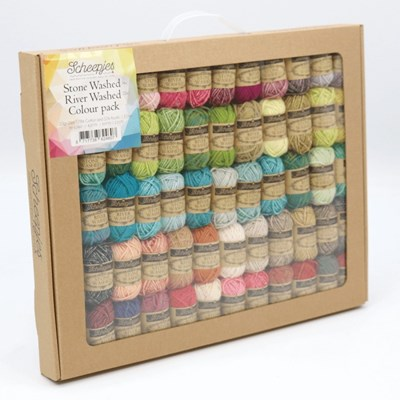 Scheepjes Stonewashed - Riverwashed colour pack 58 x 10 gram