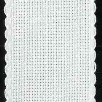 Aida band 5,5 wit hoogte 5 cm per 10 cm
