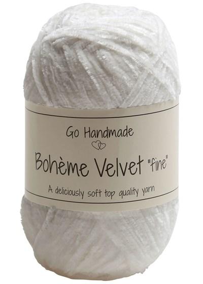 Go handmade Boheme Velvet fine 17614 Snow White