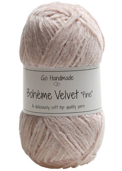 Go handmade Boheme Velvet fine 17609 Sand op=op