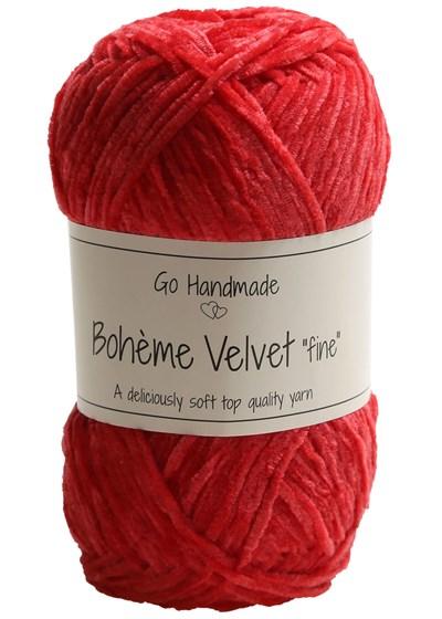 Go handmade Boheme Velvet fine 17619 Warm Red op=op