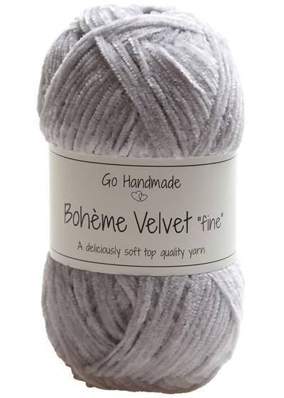 Go handmade Boheme Velvet fine 17601 Light Grey op=op