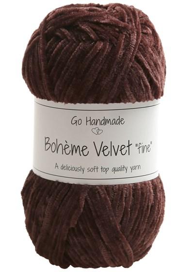 Go handmade Boheme Velvet fine 17602 Plum op=op