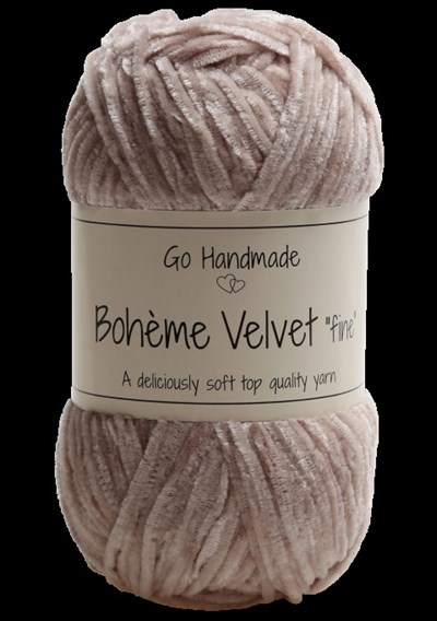 Go handmade Boheme Velvet fine 17682 Brown op=op