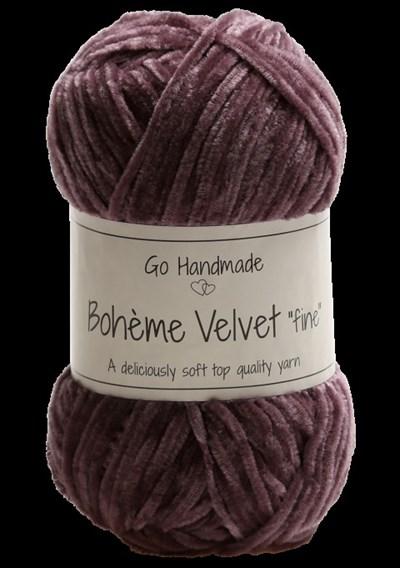 Go handmade Boheme Velvet fine 17680 Dark Lavender op=op