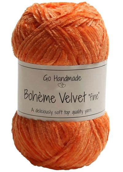 Go handmade Boheme Velvet fine 17618 Warm Orange op=op