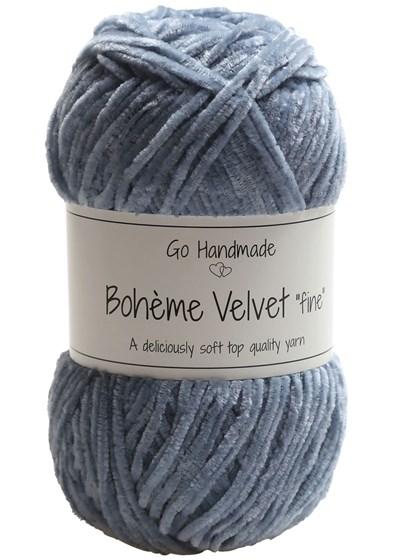Go handmade Boheme Velvet fine 17605 Dark Grey op=op