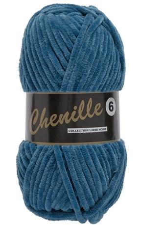 Lammy Yarns Chenille 6 - 459 jeans blauw