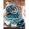 Haakpakket XXL Funny kledingset Fleur blauw groen