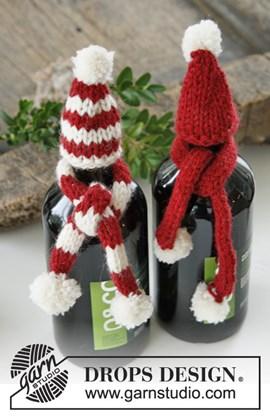 Gebreide muts en sjaal voor fles