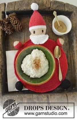 Gehaakte Kerstman placemat