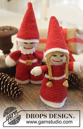 DROPS Kerst: gehaakte Kerstman en ....