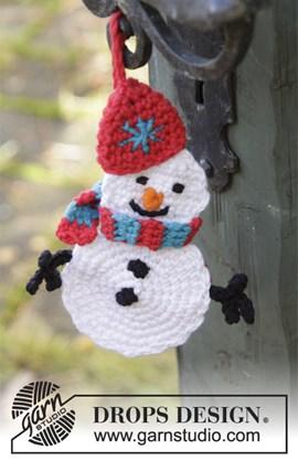 Gehaakte sneeuwpop