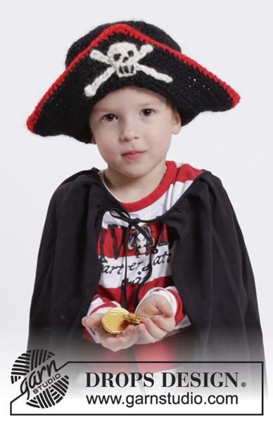 Haakpatroon Piratenmuts met schedel