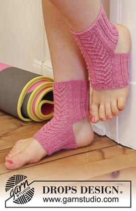 Yogasokken met kantpatroon