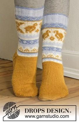 Breipatroon paas sokken met Noors ....