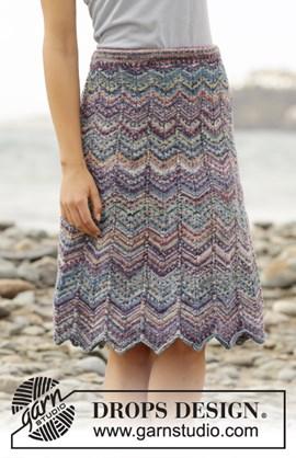 Gebreide rok met zigzagpatroon.