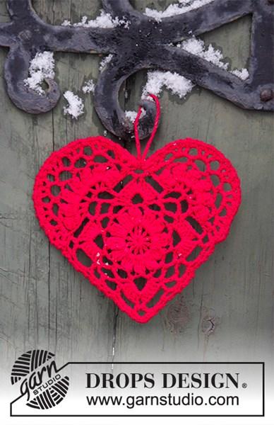 Haakpatroon kerstdecoratie hart