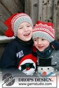 Breipatroon kinder kerstmuts, gemaakt ....