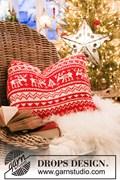 Breipatroon kerst kussen, gemaakt van ....