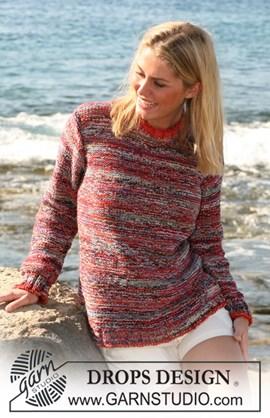 Gebreide trui met aansluitende ronde ....