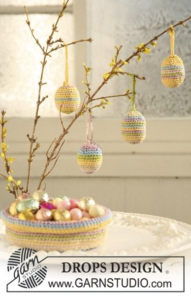 Haakpatroon Eieren en mandje