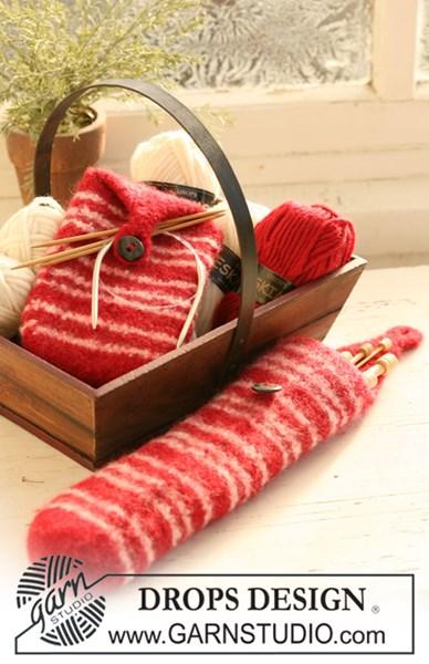 Viltnaald patroon Gevilte breinaaldenhoezen / mooie Kerstcadeaus