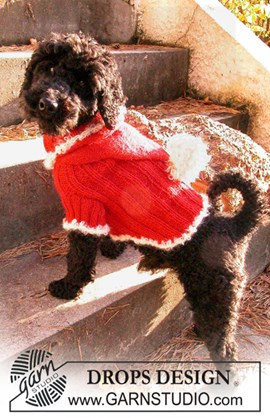 Gebreide DROPS Kersttrui voor uw hond ....