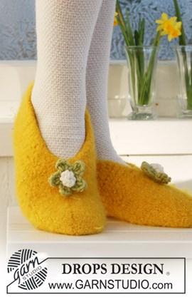 Gevilte DROPS slippers van Eskimo. Maat ....