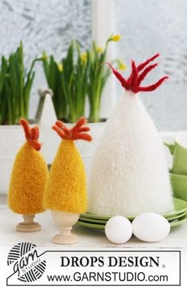 Gevilte DROPS eierwarmer voor Pasen van ....