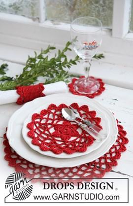 Haakpatroon Kerst placemat en servetring