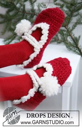 Gehaakte Kerst slippers