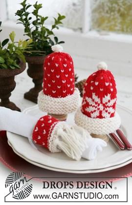gebreide eierwarmers en servetring