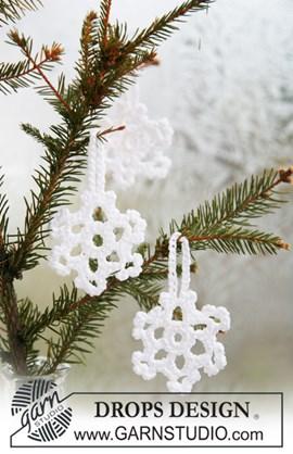 DROPS Kerst sneeuwsterren van Cotton ....