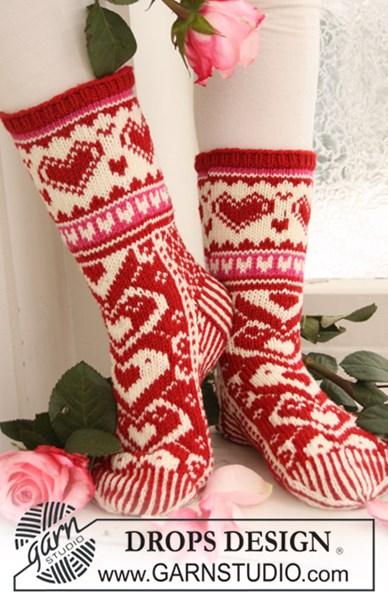Breipatroon Gebreide Valentijn sokken