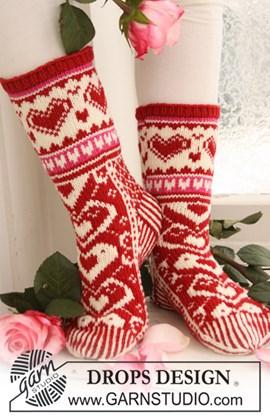 Gebreide Valentijn sokken