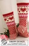 Breipatroon Gebreide Valentijn sokken van andere kant
