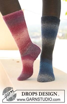 Gebreide sokken de roze versie.